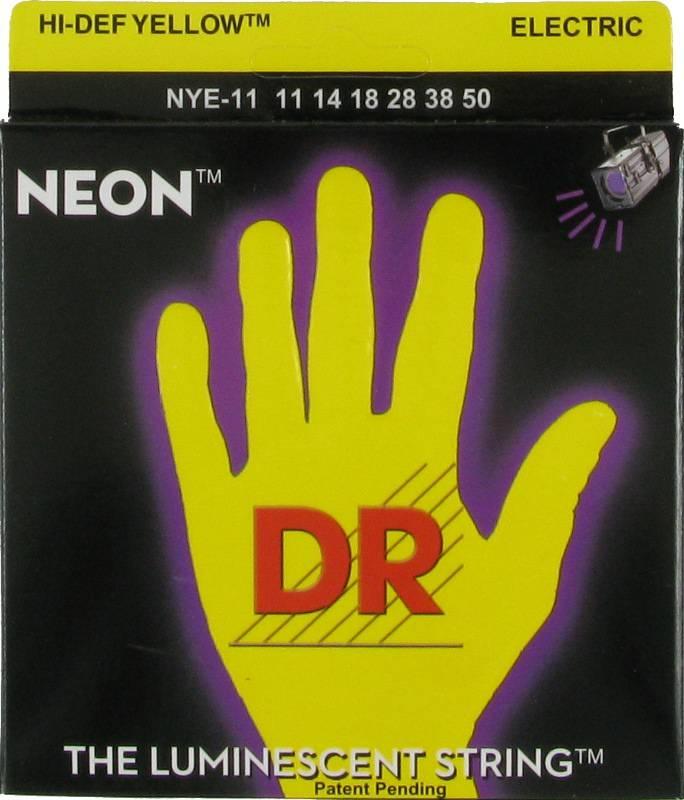 NEON Струны для электрогитар DR NYE-11 (11-50) люминесцентные