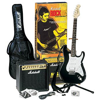 ГИТАРНЫЙ КОМПЛЕКТ MARSHALL GAP15MG ROCK-KIT - WITH ROCKET DELUXE GUITAR