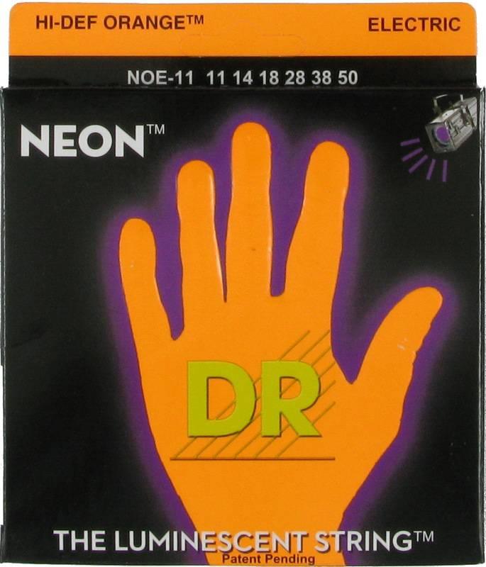 NEON Струны для электрогитар DR NOE-11 (11-50) люминесцентные