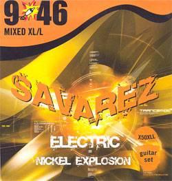 Nickel Explosion Струны для электрогитар SAVAREZ X50XLL (9-11-16-26-36-46)