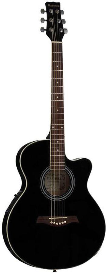 Электроакустическая гитара MARTINEZ SW-024HC/BK