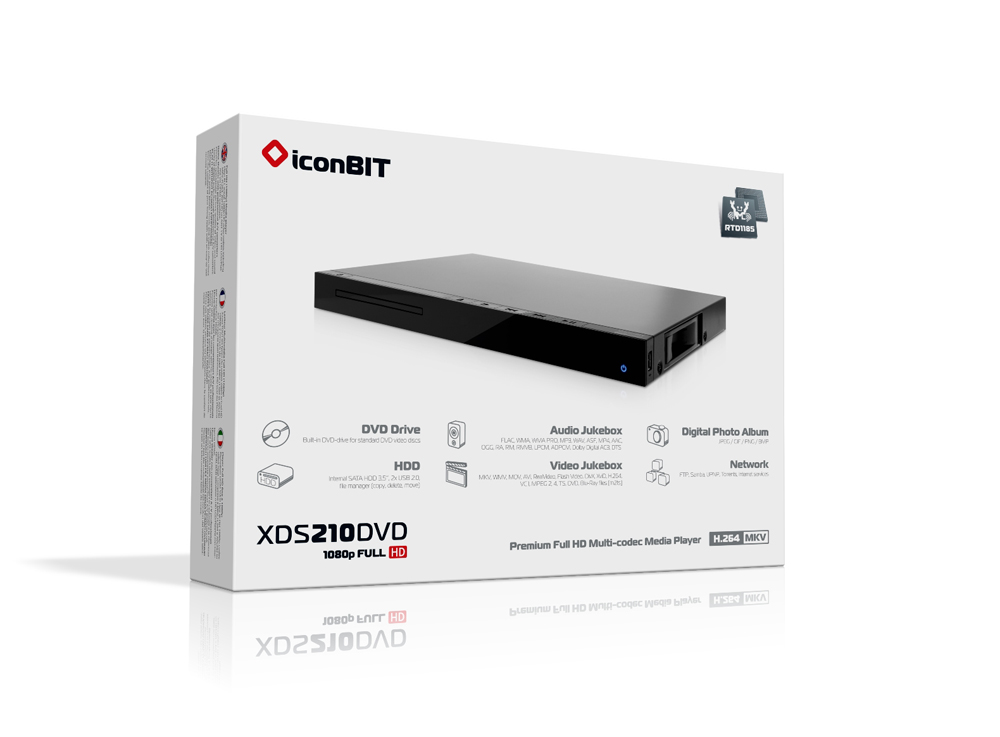 iconBIT XDS210DVD Media Player New