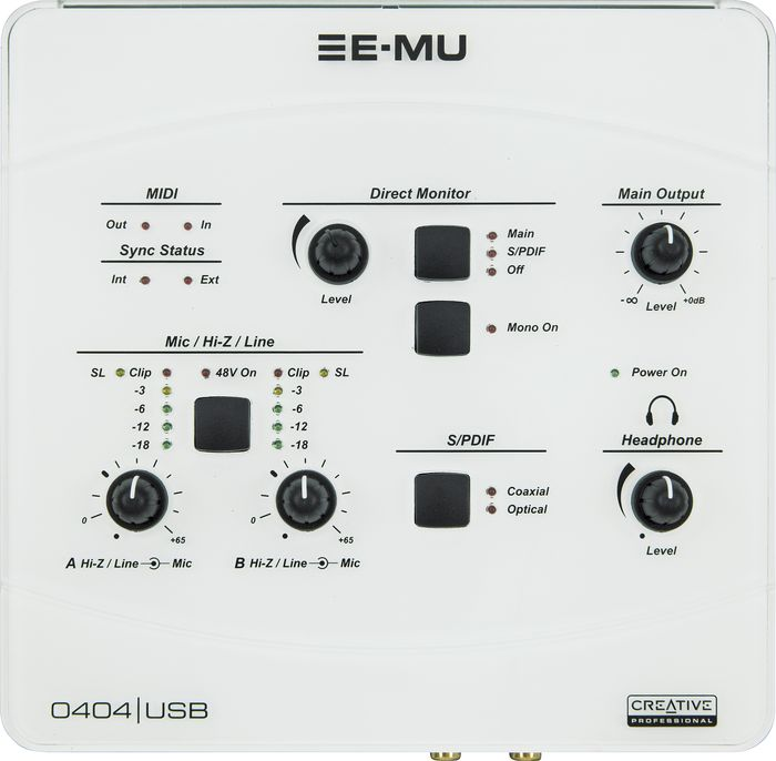 E-MU 0404 USB 2.0 DRIVER FOR WINDOWS MAC