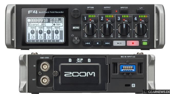 Zoom-F4-Field-Recorder-Front-Back