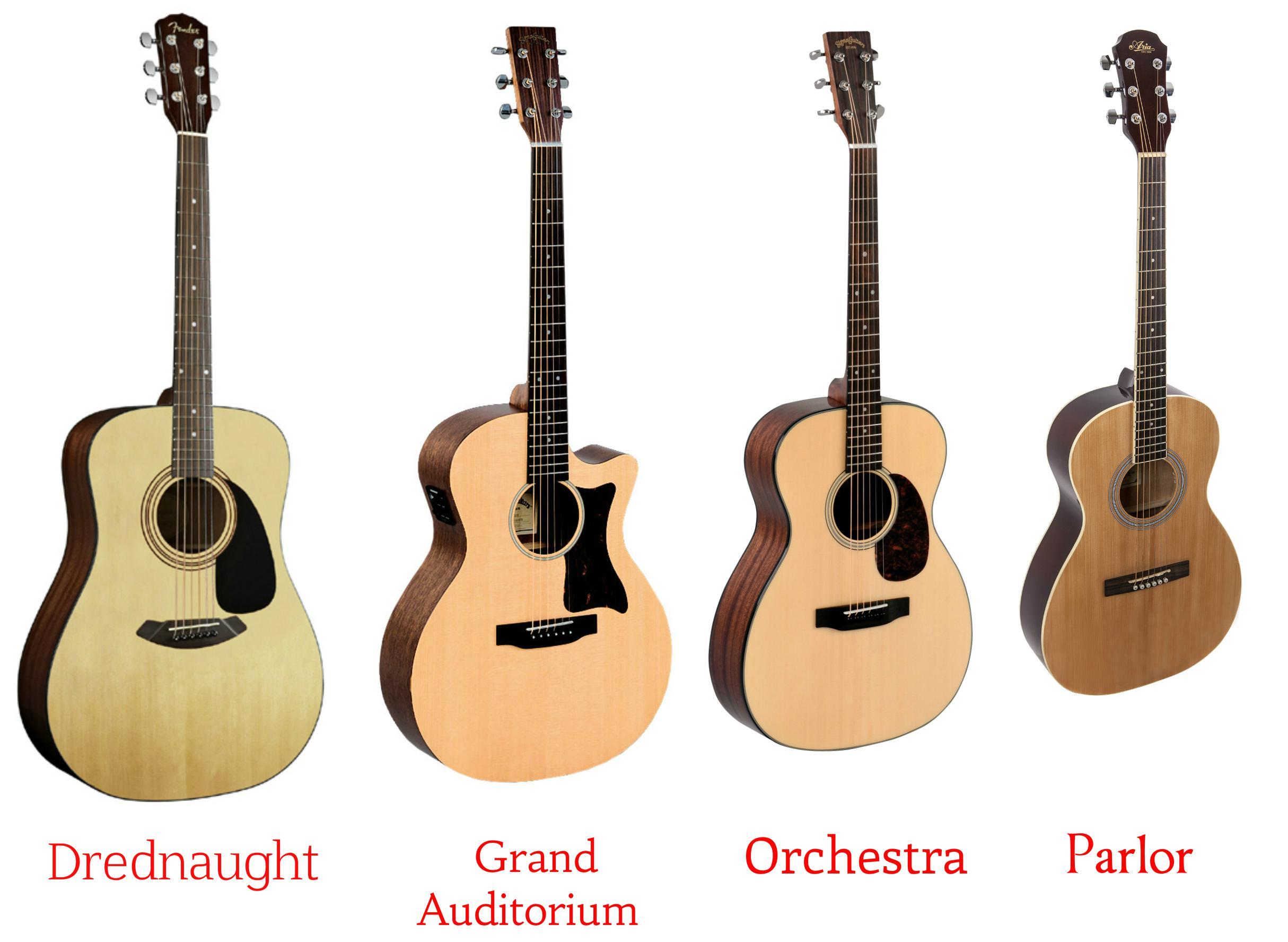 Гитары: от дредноута до Parlor