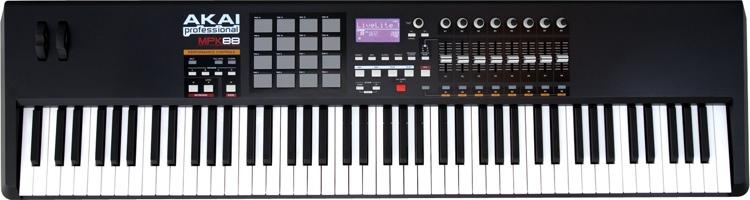 Пример полноформатного контроллера –MIDI-клавиатура AKAI MPK88