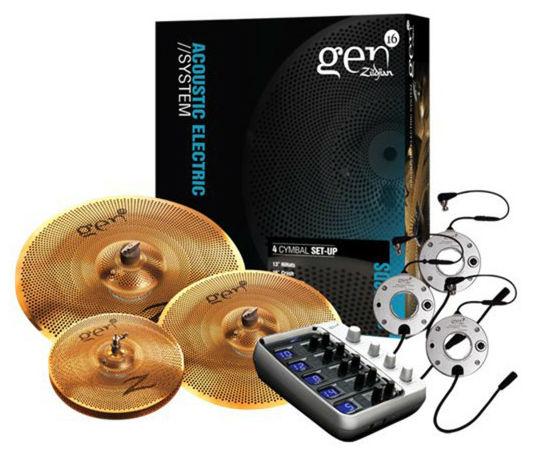 Компания ZILDJIAN выпускает комплекты тарелок из специального сплава с набором триггеров, демпферов и звуковым модулем