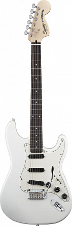 ЭЛЕКТРОГИТАРА FENDER SQUIER DELUXE STRAT HOT RAILS OLIMPIC WHITE