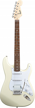 FENDER SQUIER BULLET STRATOCASTER WITH TREMOLO HSS AWT