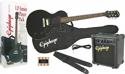 ГИТАРНЫЙ КОМПЛЕКТ EPIPHONE PLAYER PACK LP JUNIOR EB/CH