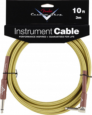 FENDER CUSTOM SHOP 10' ANGLE INSTRUMENT CABLE TWEED