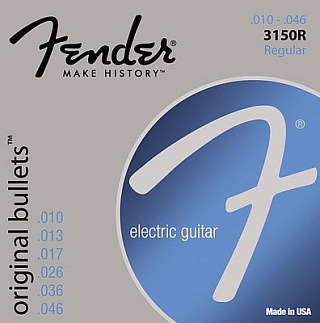 СТРУНЫ FENDER STRINGS NEW ORIGINAL BULLET 3150R PURE NKL BLT END 10-46