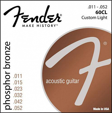 СТРУНЫ FENDER STRINGS NEW ACOUSTIC 60CL PH0S BRONZE 11-50