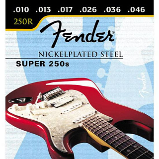СТРУНЫ FENDER SUPER 250 NICKEL PLATED STEEL BALL END 250 R