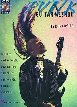 HAL LEONARD GTRED PUNK GUITAR METH BK/CD