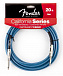 FENDER 20 CALIFORNIA INSTRUMENT CABLE LAKE PLACID BLUE