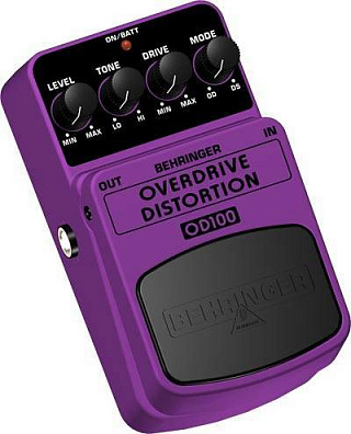 ГИТАРНЫЙ ЭФФЕКТ BEHRINGER OVERDRIVE/DISTORTION OD100