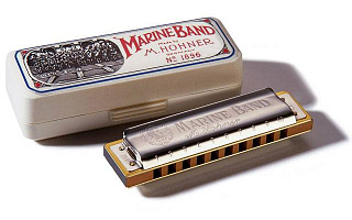 ГУБНАЯ ГАРМОШКА HOHNER MARINE BAND 1896/20 G HIGH