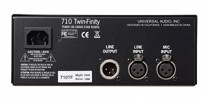 ПРЕДУСИЛИТЕЛЬ UNIVERSAL AUDIO 710 TWIN-FINITY