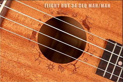 Укулеле FLIGHT DUT 34 CEQ MAH/MAH