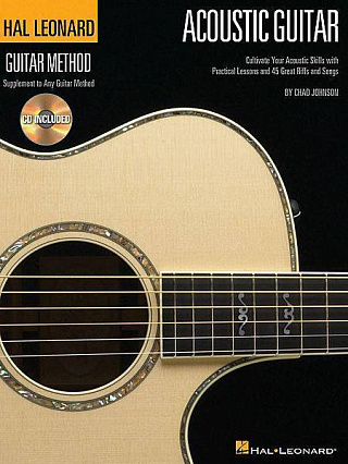 HAL LEONARD GTRMTH ACOUSTIC GUITAR BK/CD