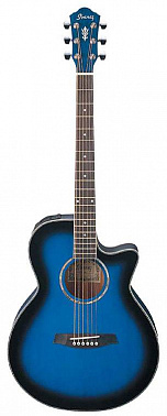 ЭЛЕКТРОАКУСТИЧЕСКАЯ ГИТАРА IBANEZ AEG10E TRANSPARENT BLUE SUNBURST