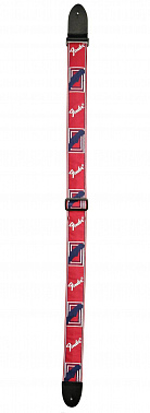 РЕМЕНЬ ГИТАРНЫЙ FENDER 2' MONOGRAMMED RED/WHITE/BLUE STRAP