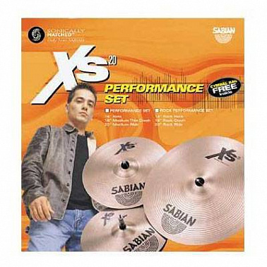 КОМПЛЕКТ ТАРЕЛОК SABIAN XS20 ROCK PERFORMANCE SET