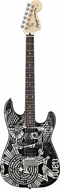 ЭЛЕКТРОГИТАРА FENDER SQUIER OBEY GRAPHIC STRATOCASTER HSS RW DISSENT
