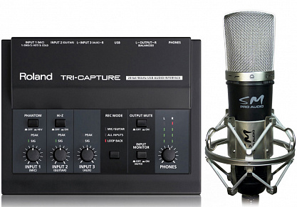 КОМПЛЕКТ ROLAND TRI-CAPTURE+ SM PRO AUDIO MC01