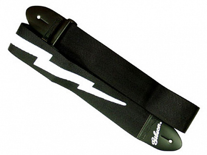 РЕМЕНЬ GIBSON ASGSBL-10 LIGHTNING BOLT Style 2 Safety strap - jet black