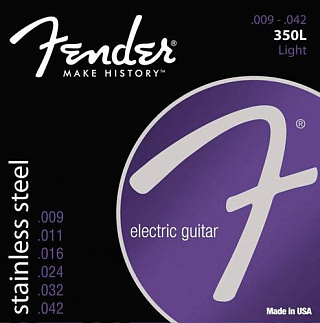 СТРУНЫ FENDER STRINGS NEW STAINLESS 350L STNLS STL BALL END