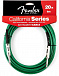 FENDER 20 CALIFORNIA INSTRUMENT CABLE SURF GREEN