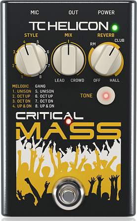 Вокальная педаль TC HELICON CRITICAL MASS