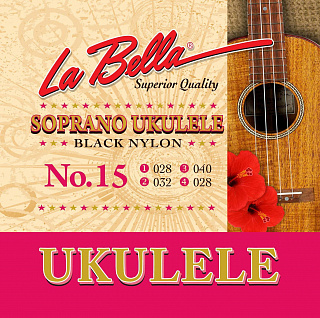 СТРУНЫ LA BELLA UKULELE 15-BLACK
