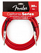 FENDER 20 CALIFORNIA INSTRUMENT CABLE CANDY APPLE RED