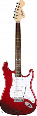 ЭЛЕКТРОГИТАРА FENDER SQUIER AFFINITY STRATOCASTER HSS RW CHROME RED