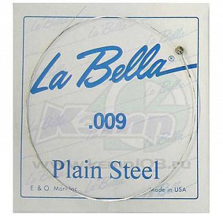 СТРУНА LA BELLA PLAIN STEEL PS009