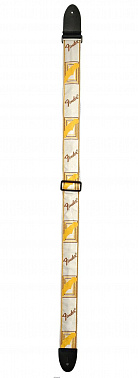 РЕМЕНЬ ГИТАРНЫЙ FENDER 2' MONOGRAMMED WHITE/BROWN/YELLOW STRAP